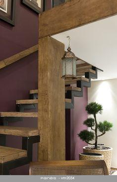 Metalon e piso de madeira