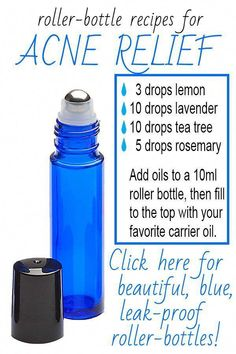 Acne Relief Have you used and tested how much better stainless steel roller bottle ball are? If you are looking for roller bottles that dont leak, look here. We have many different colors and sizes. Each set comes with 192 EO lab Essential Oils Guide, Essential Oil Uses, Doterra Essential Oils, Young Living Essential Oils, Essential Oil Diffuser, Roller Bottle Recipes, Acne Oil, Sent Bon, Homemade Beauty Products