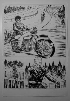 "Two page comic ""Silêncio"" by Ricardo Reis Illustration, via Behance"