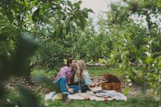 Apple Orchard Engagement - Rouxby Photography