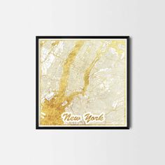 New York map posters -Art posters and prints of your favorite city. Unique design of a map. Perfect for your house and office or as a gift.