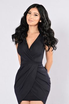 Paper Chase Dress - Navy