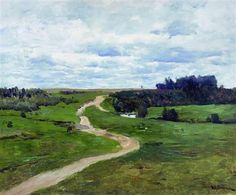 (Russia) Road,1898 by Isaac Levitan (1860-1900). Oil on canvas.