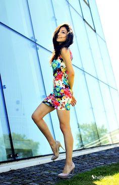 Multi Sleeveless Floral Bodycon Dress - Sheinside.com