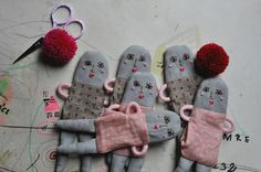 ESZTERDA- sweet hand made dolls from Hungary in process