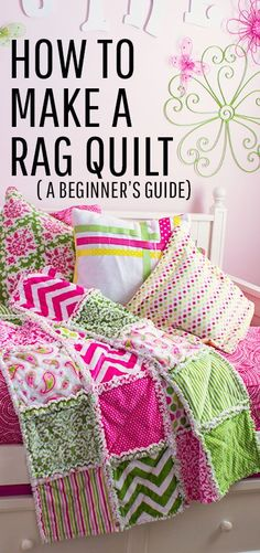 This easy beginner friendly guide will walk step by step through the process of making a rag quilt.  a rag quilt is a wonderful first time sewing project.  No special quilting machine required.  #modernquilting #modernquilt #quilt #quilting #quilter #ragquilt #ragquiltutorial #ragquiltinstructions #beginnersewingprojectseasy