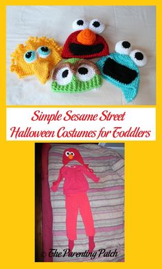How to create simple Halloween costumes of your child's favorite Sesame Street characters.