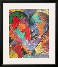 Jim Dine Heart Poster | Heart Framed Art Poster Print by Jim Dine, 28x32