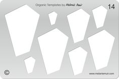 No 14 Clear Acrylic Template/Stencil for Polymer/Metal Clay/Jewellery/Crafting - a more geometric shape, works with cuffs but also good for pendants, earrings and necklaces - In Stock - £9