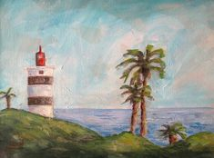 Lighthouse, Paintings, Canvas, Instagram, Art, Bell Rock Lighthouse, Tela, Art Background, Light House