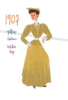 early 1900s fashion, fashion illustration by Neiko Ng
