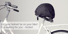 HELMMATE | no helmet hassle - keeps seat (and helmet) dry and secures helmet when parked