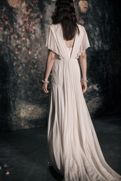 Jenny Packham's Spring 2016 bridal collection inspired by a Midsummer Nights Dream. A collection of dusky tints and otherworldly embellishment. Jenny Packham Bridal, Jane Seymour, Midsummer Nights Dream, Bridal Collection, Style Guides, Catwalk, Wedding Styles, Short Sleeve Dresses, Style Inspiration