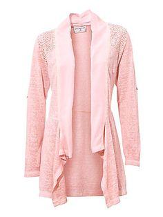 72ca16ae415d B.C. Best Connections by heine - Shirtjacke mit Chiffonbesatz rosé im heine  Online-Shop kaufen
