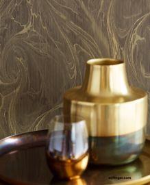 Behang goud Big Pillows, Wood Detail, Bedroom Styles, Brown Wood, Vase, Flooring, Color, Home Decor, Decoration Home