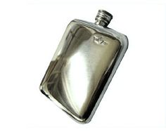 6oz Cushion Hip Flask - Cushion Shaped Hip Flask. Made from lead free pewter this Engraved Hip Flask is our most popular hip flask. It has a rounded look and feel to it.