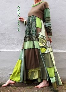 AuraGaia's Green~ Poorgirl Boho Tattered Upcycled Long Dress S-XL Gypsy Style, My Style, Boho Fashion, Fashion Dresses, Diy Clothes, Clothes For Women, Dressed To The Nines, Altering Clothes, Upcycled Clothing