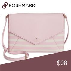 Kate Spade envelope Crossbody Kate spade , light pink top, white and light pink stripes , Crossbody, never worn, perfect condition, great size. Price negotiable kate spade Bags Crossbody Bags