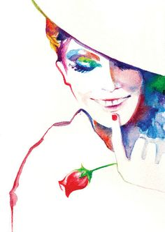 Fashion Illustration Print  - FRENCH SMILE