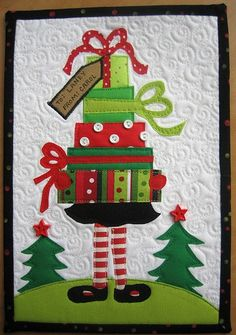 Adorable for a small wall hanging!
