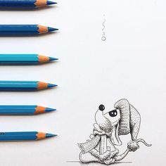 Waiting for the first snowflake to fall like. Cute Animal Drawings, Cute Drawings, Pencil Drawings, Illustrations, Illustration Art, Mouse Crafts, Cute Paintings, Cute Mouse, Pen Art