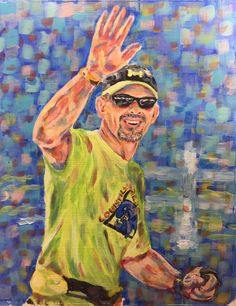 Get a lasting keepsake to document your achievement with a Triathlon painting. View more at www.vivsart.com