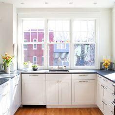 Soapstone Counter White Cabinets