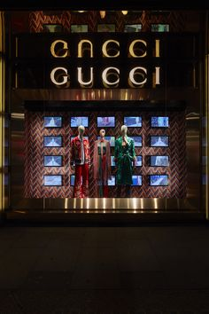 """GUCCI,London,UK, """"Interpretation of Alessandro Michele's Spring/Summer Collection"""", creative by Chameleon Visual, pinned by Ton van der Veer"""