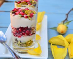 Rose Water Almond Milk Pudding With Pomegranate