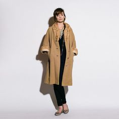 '40s Scalloped Fur Edged Coat, $239, now featured on Fab.