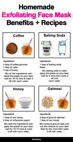 Homemade Exfoliating Face Mask: Benefits + Recipes - Care - Skin care , beauty ideas and skin care tips Face Skin Care, Diy Skin Care, Skin Care Tips, Face Face, Dry Skin On Face, Homemade Face Masks, Homemade Skin Care, Homemade Beauty, Homemade Facials