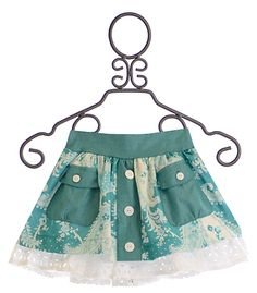 Persnickety Daffodils and Dandelions Chloe Skirt for Little Girls $58.80