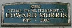 """Celebrity Grave Markers >Howard Morris - Best known as Ernest , T. Bass, on the TV series """"The Andy Griffith Show"""". The Andy Griffith Show, Cemetery Headstones, Famous Graves, I Love Reading, Special People, Famous People, First Love, Grave Markers"""