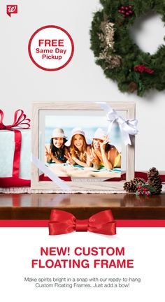 Create a one-of-a-kind gift with our new Custom Floating Frame! Available for FREE Same Day Pickup.