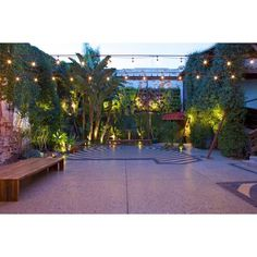 Vertical garden at this LA venue creates a beautiful outdoor atmosphere for event goers.  Marvimon