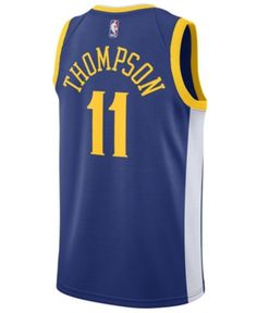 new style 6daa7 dec78 Klay Thompson Golden State Warriors adidas Replica Short ...