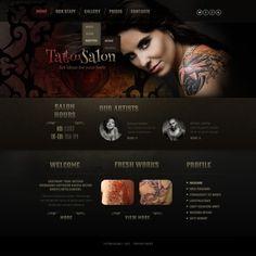Tattoo Salon Responsive Website Theme
