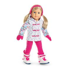AMERICAN GIRL COMPLETE SNOWBOARD OUTFIT~HAT~GLOVES~JACKET~PANTS~BNIB