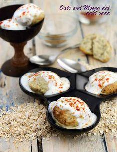 ઓટસ્ અને મગની દાળના દહીં વડા ની રેસીપી , Oats and Moong Dal Dahi Vada Veg Recipes, Baby Food Recipes, Indian Food Recipes, Vegetarian Recipes, Snack Recipes, Cooking Recipes, Healthy Recipes, Healthy Food, Millet Recipes