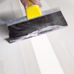 Drywall Tape How To - Whether you're finishing a basement, repairing a damaged wall, or hanging drywall in a new house, these taping tips will help you make smooth, invisibl Drywall Tape, Drywall Mud, Drywall Repair, Home Improvement Projects, Home Projects, Home Renovation, Home Remodeling, Drywall Finishing, Basement Finishing
