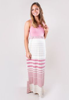d078a0d4dc4 Maternity Maxi Dress with Stripes. This striped Sexy Mama ...