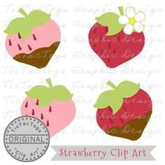 Up for your consideration is my Strawberry clip art package for personal and CU for only $0.99