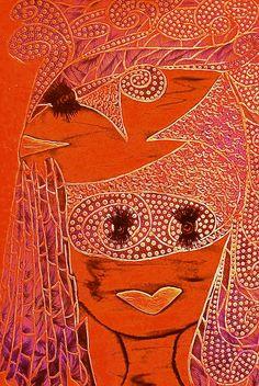 RED Monkey Goddess: from Original tetkaART