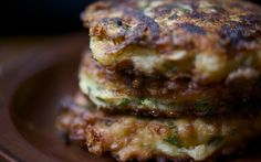 Zucchini Fritters with Mint and Cheese Glutton For Life » Fritter Away