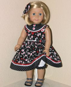 American Girl Doll Clothes  Kit Molly  18 inch by LidiDesigns