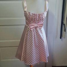 Pink with black polka dot dress Pink polka dot dress. Host pick! ! Dresses