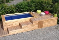 Build your hot tub, spa or exercise pool. Get instant access to detailed information on how to build your own hot tub, spa or exercise pool today! Small Inground Pool, Diy Swimming Pool, Building A Swimming Pool, Diy Pool, Small Backyard Pools, Small Pools, Pool Decks, Hot Tub Backyard, Indoor Swimming