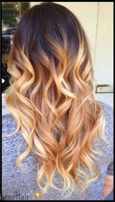Ombre dyed hair