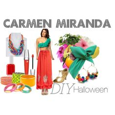 """DIY Halloween- Carmen Miranda"" by amye313 on Polyvore"