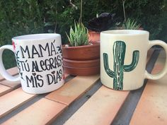Mum's day mug with a cactu's one